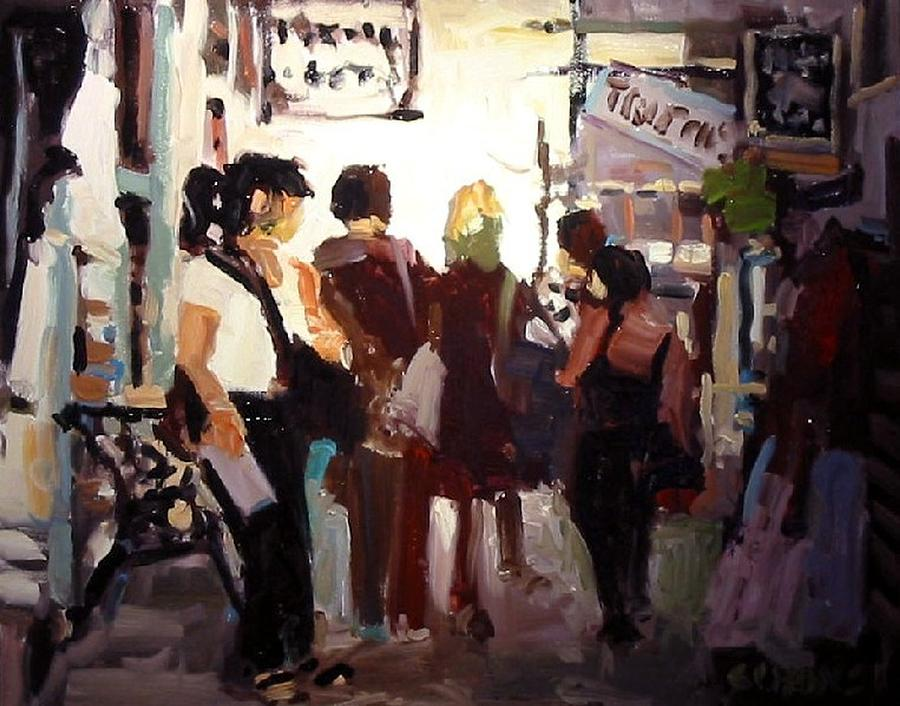Landscape Paintings Painting - Tourists by Brian Simons