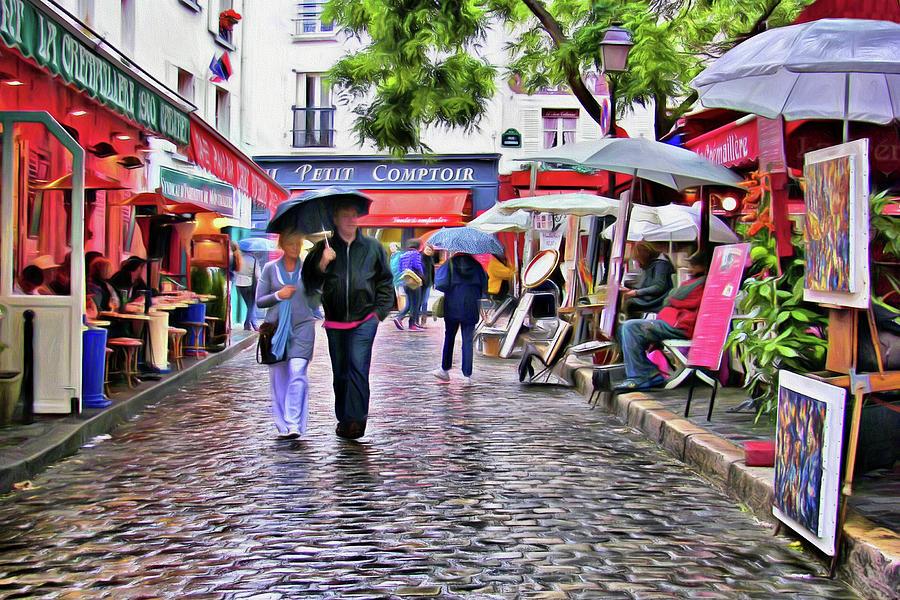 Tourists Photograph - Tourists - Paris - Place Du Tertre by Nikolyn McDonald