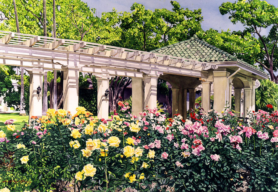 Roses Painting - Tournament Of Roses by David Lloyd Glover