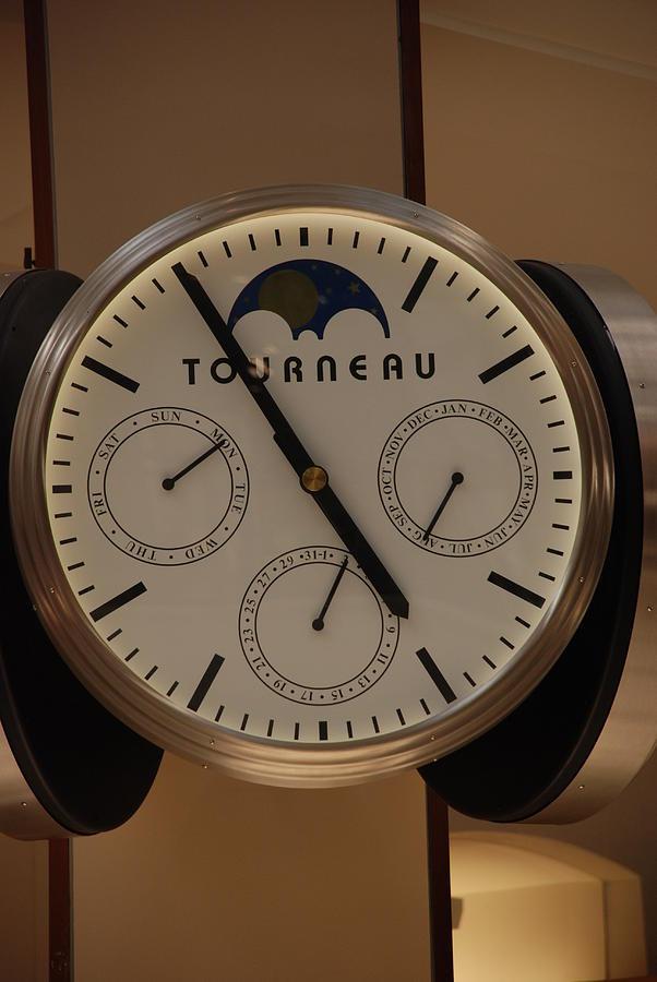 Clock Photograph - Tourneau by Rob Hans