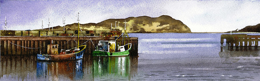 Campbeltown Painting - Towards Davaar From Campbeltown by Paul Dene Marlor