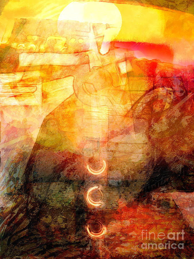 Light Digital Art - Towards The Light by Lutz Baar