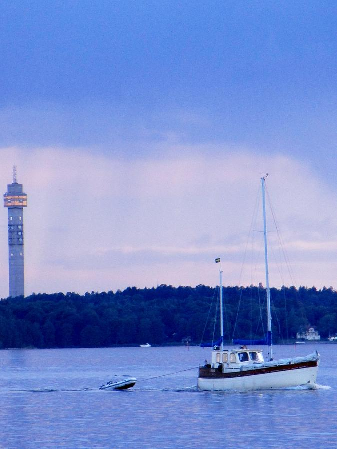 Sea Photograph - Tower And Masts by Rosita Larsson