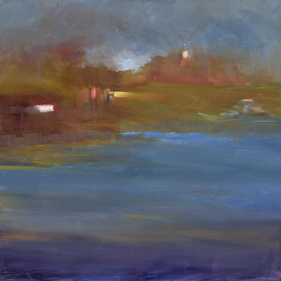 Abstract Landscape Painting - Tower by Anne McNally