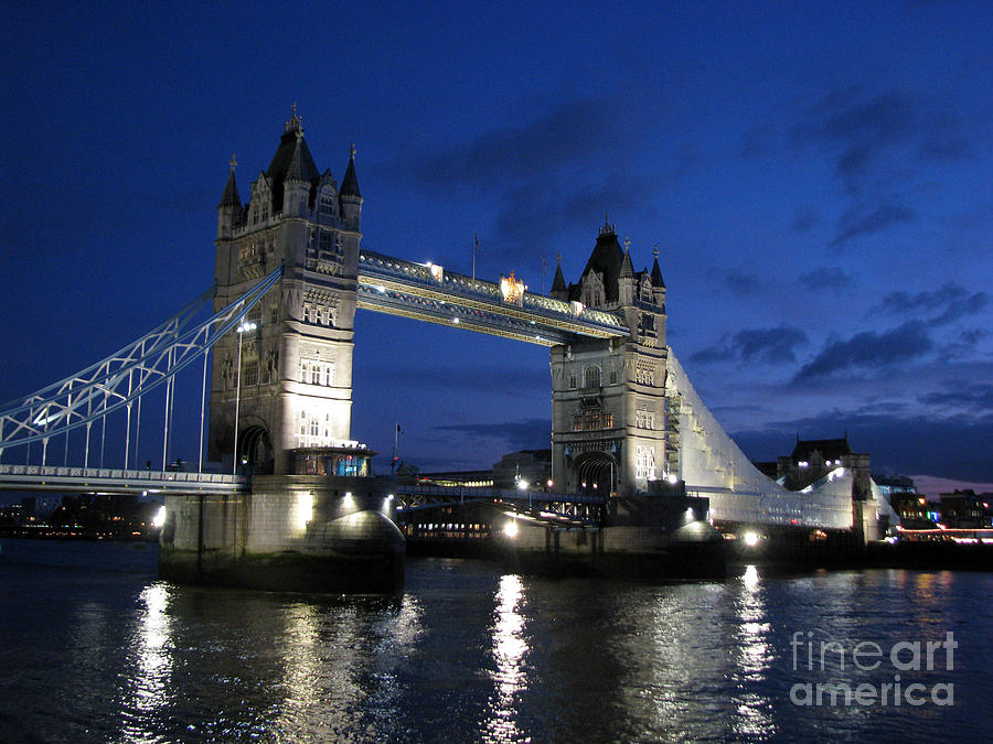 London Photograph - Tower Bridge by Amanda Barcon