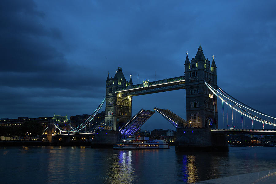 London Photograph - Tower Bridge At Night by Carol DeGuiseppi