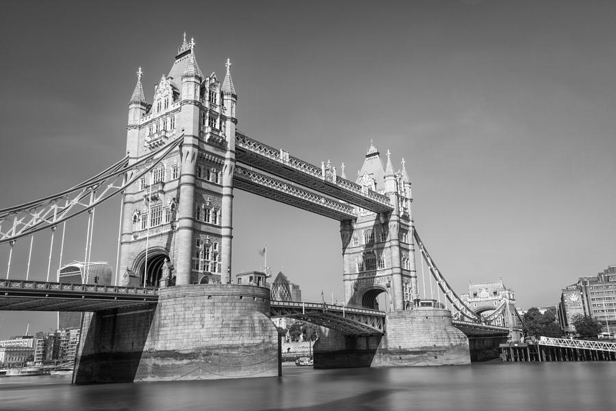Tower Bridge Black And White Photograph