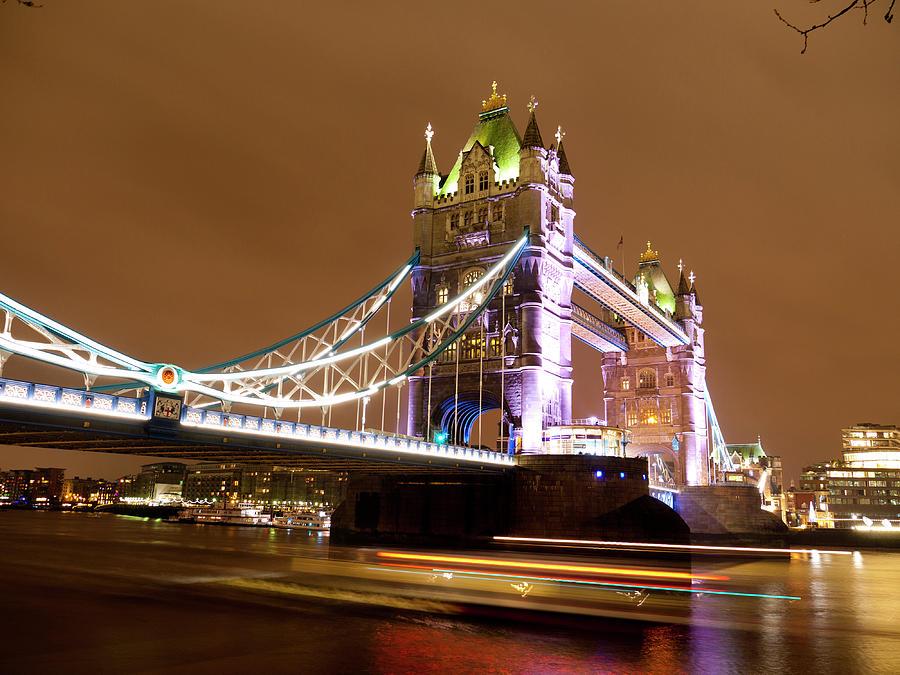 Bridge Photograph - Tower Bridge Evening by Rae Tucker