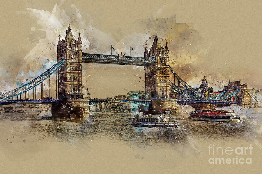 Tower Bridge of London by Teresa Zieba