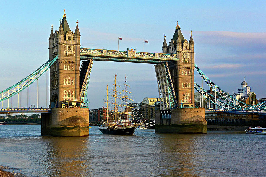 London Photograph - Tower Bridge On The Thames by Two Small Potatoes
