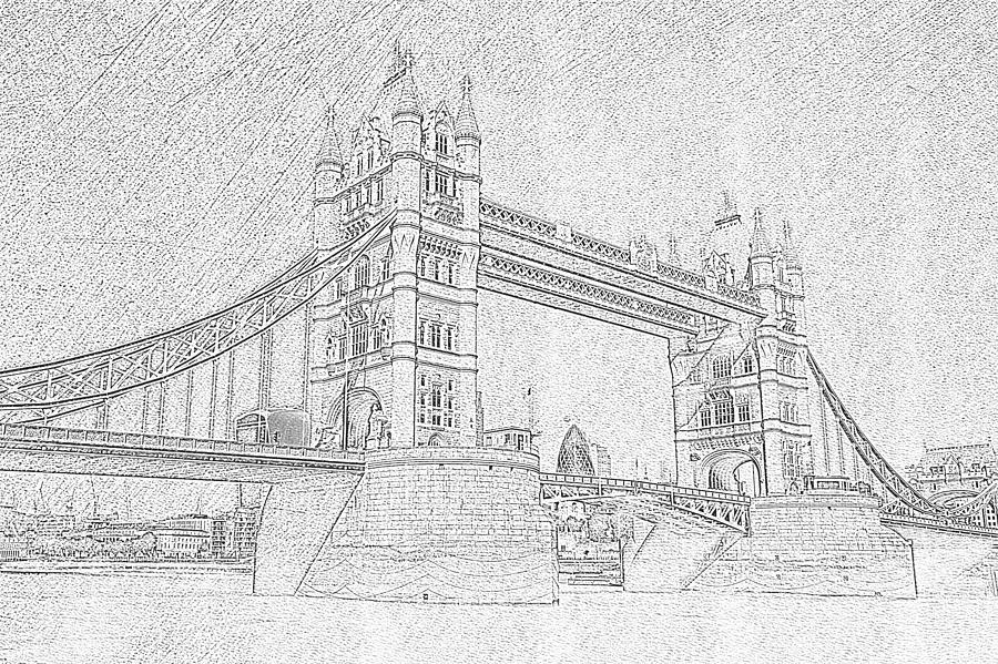 Tower Bridge Sketch Photograph