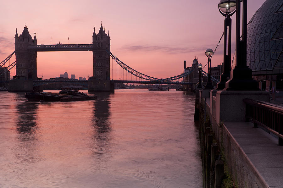 London Photograph - Tower Bridge Sunrise by Donald Davis