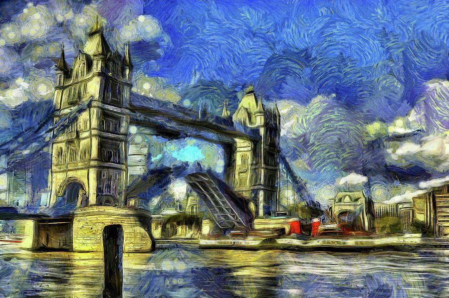 Impressionism Photograph - Tower Bridge Van Gogh by David Pyatt