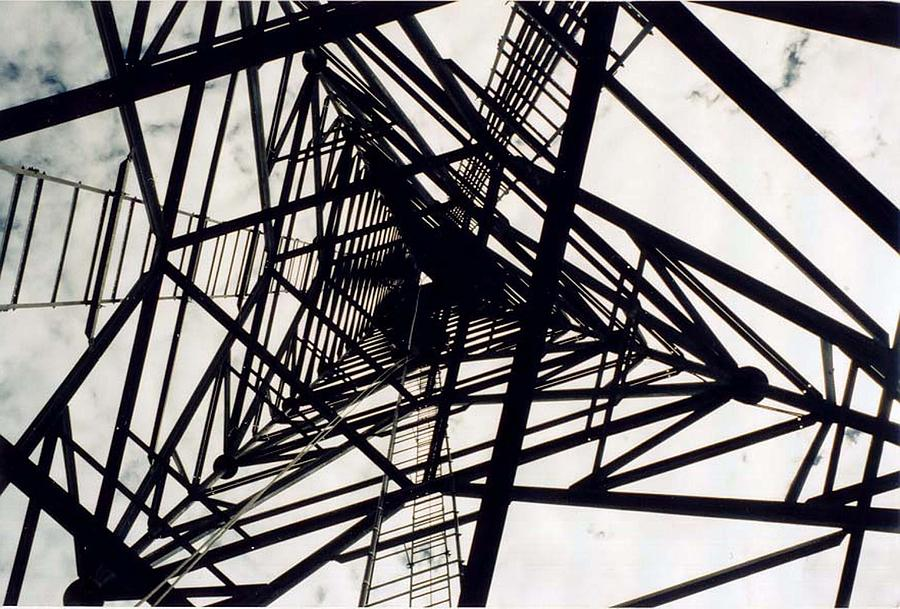 Rust Photograph - Tower Grid by Margaret Fortunato