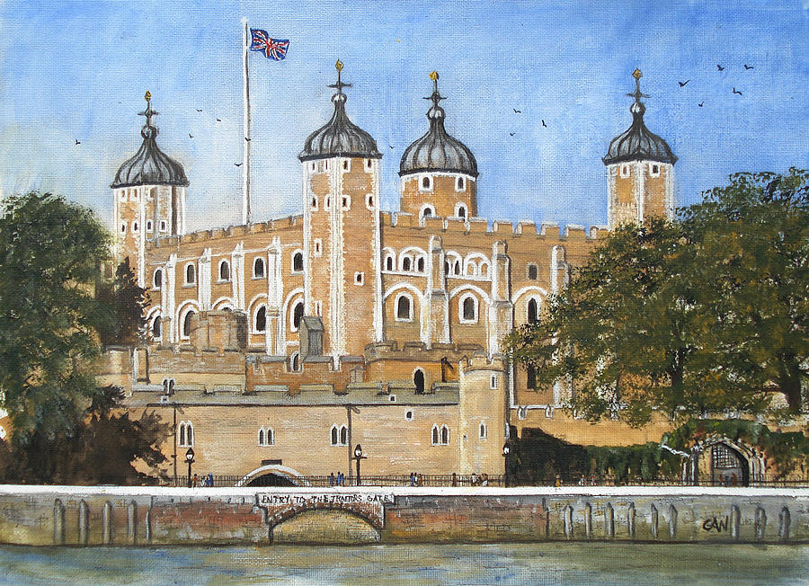 London Painting - Tower Of London by Carol Williams