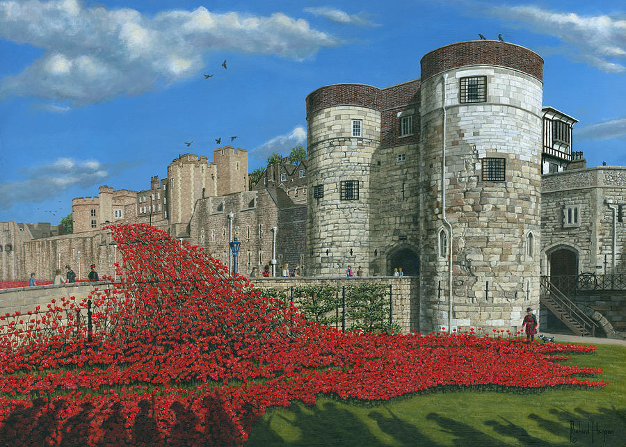 Tower Of London Poppies - Blood Swept Lands And Seas Of Red Painting