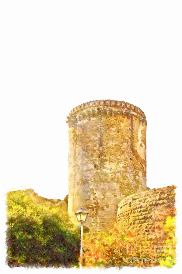 Tower Painting - Tower Of The Castle by Giuseppe Cocco