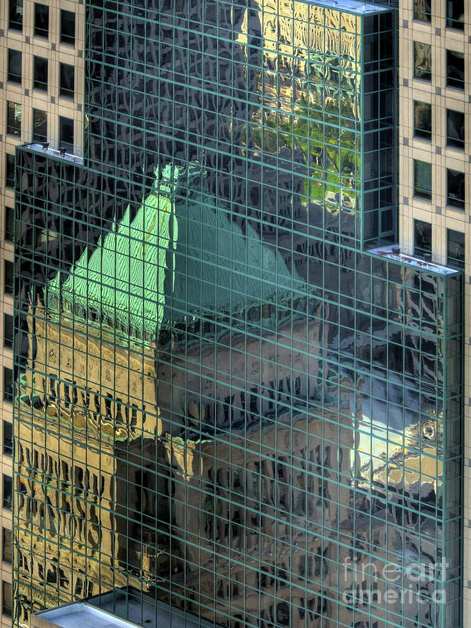 Cityscapes Photograph - Tower Reflections by Mel Steinhauer