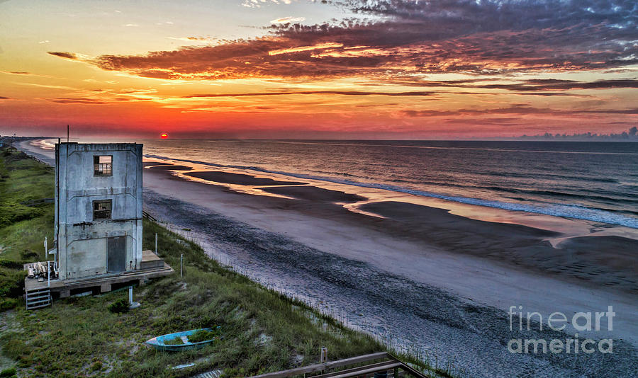 Surf City Photograph - Tower Sunrise by DJA Images