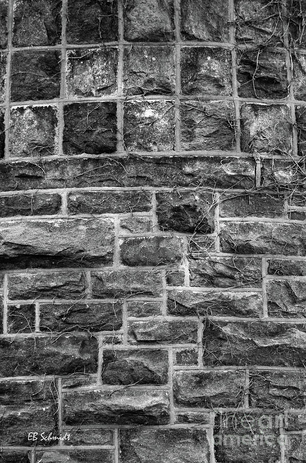 Washington Dc Photograph - Tower Wall Black And White by E B Schmidt
