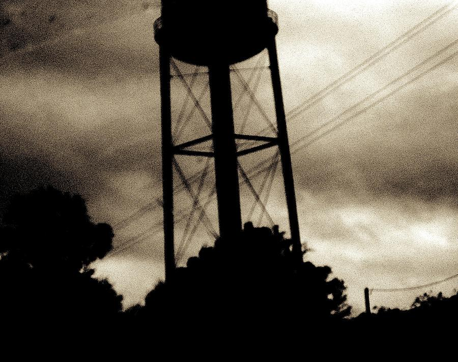 Water Tower Photograph - Tower With Intersecting Lines II by Stephen Hawks