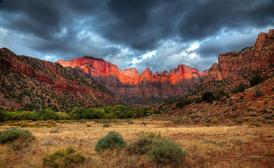 Zion National Park Photograph - Towers Of The Virgin One by Paul Basile