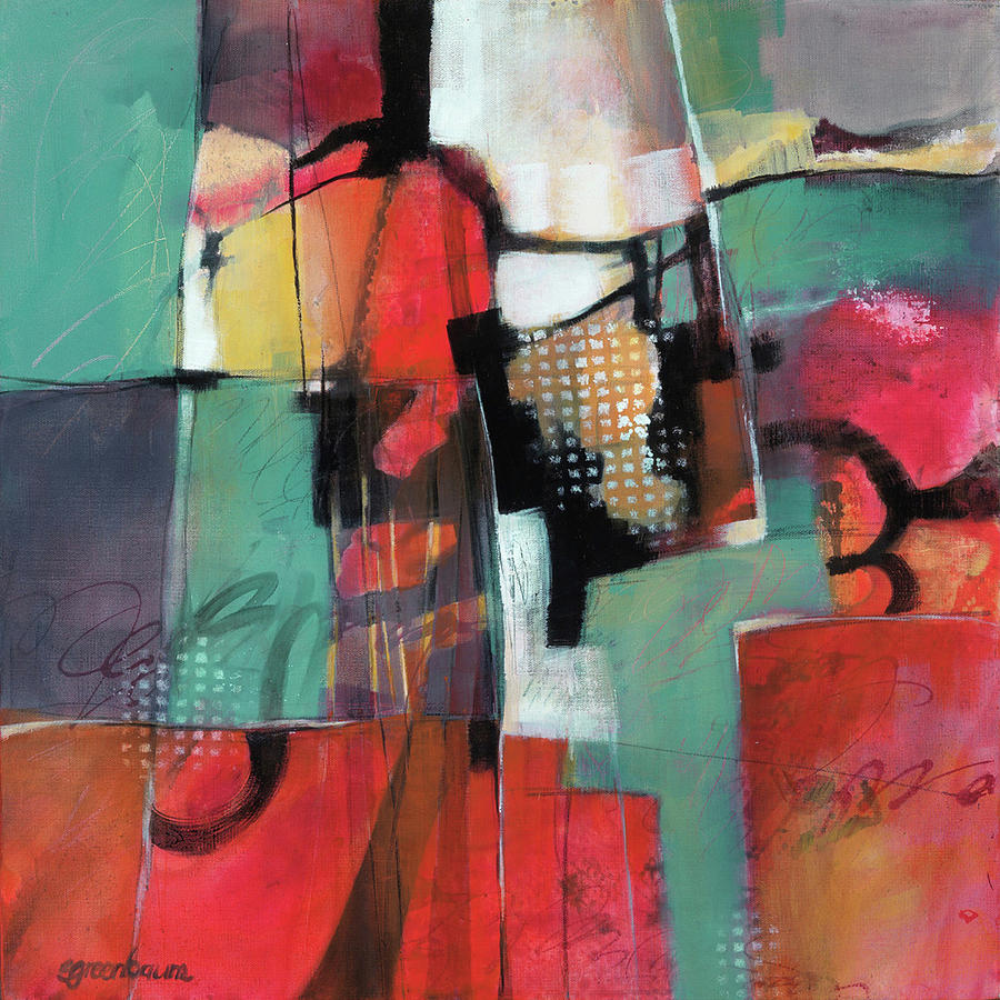 Red Painting - Town And Country by Susan Greenbaum