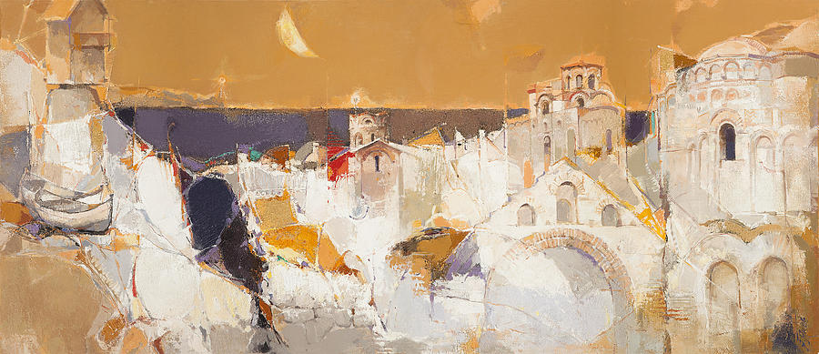 Seaside Painting - Town At The Seaside by Yanko Yanev