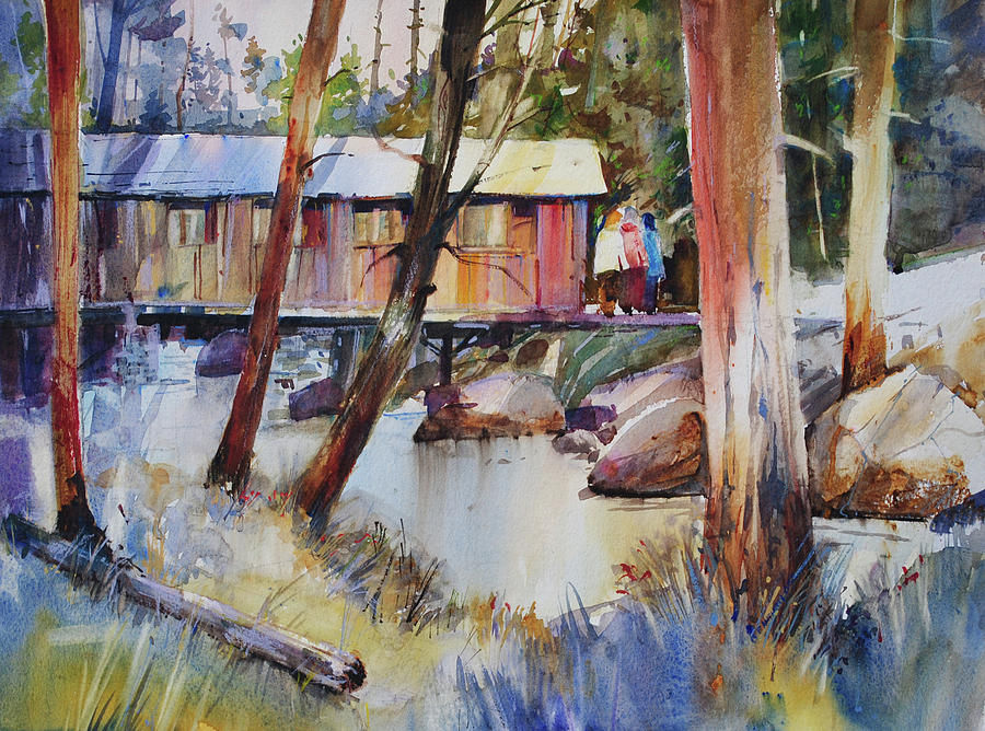 Covered Bridge over Town Brook by P Anthony Visco