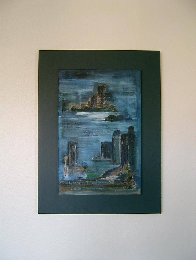 Town In Water Painting by Petra Pyro Engelhardt