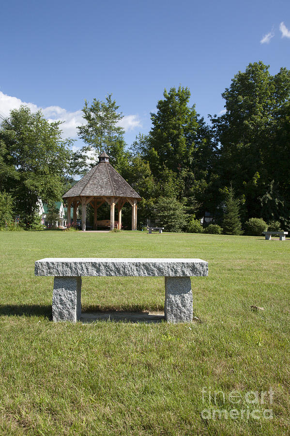 New Hampshire Photograph - Town Park In Bartlett New Hampshire Usa by Erin Paul Donovan