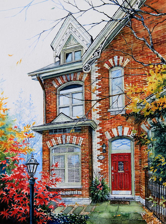 Townhouse Portrait Painting