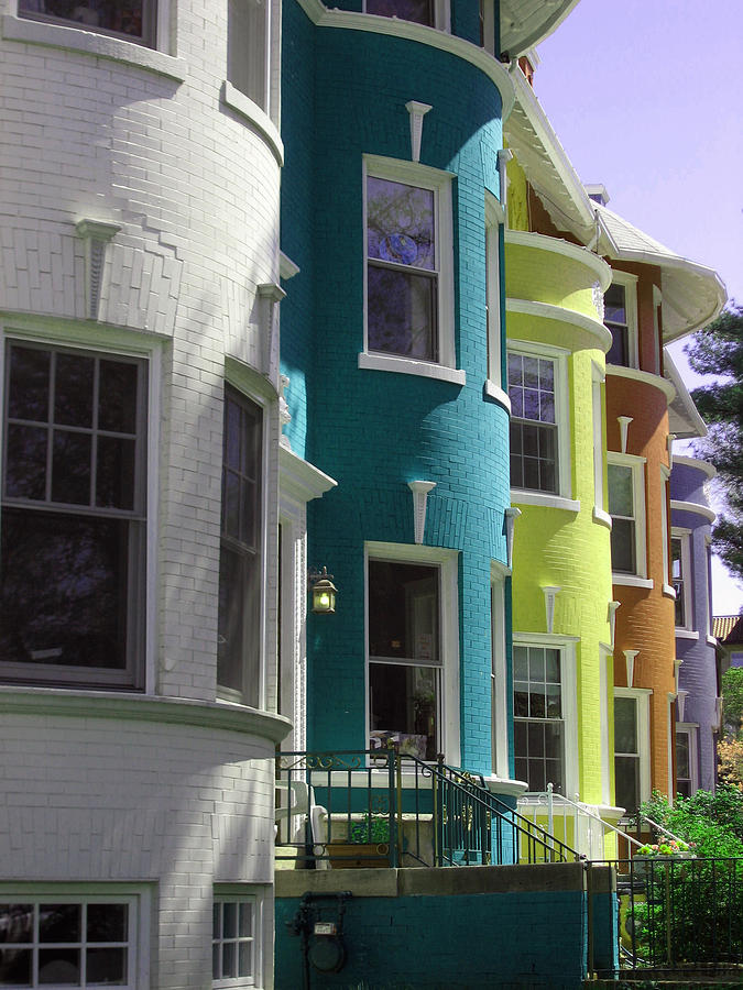 Townhouses Photograph - Townhouse Row 3 by Sean Owens