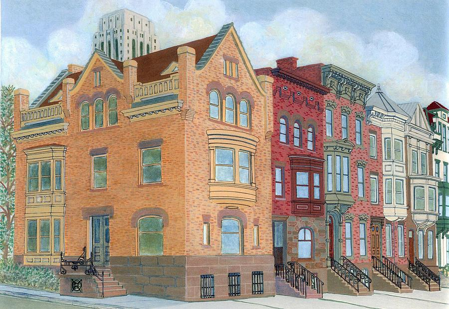 Albany Painting - Townhouses by David Hinchen