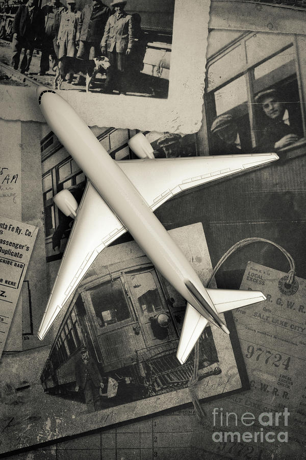Airplane Photograph - Toy Airplane Vintage Travel by Edward Fielding