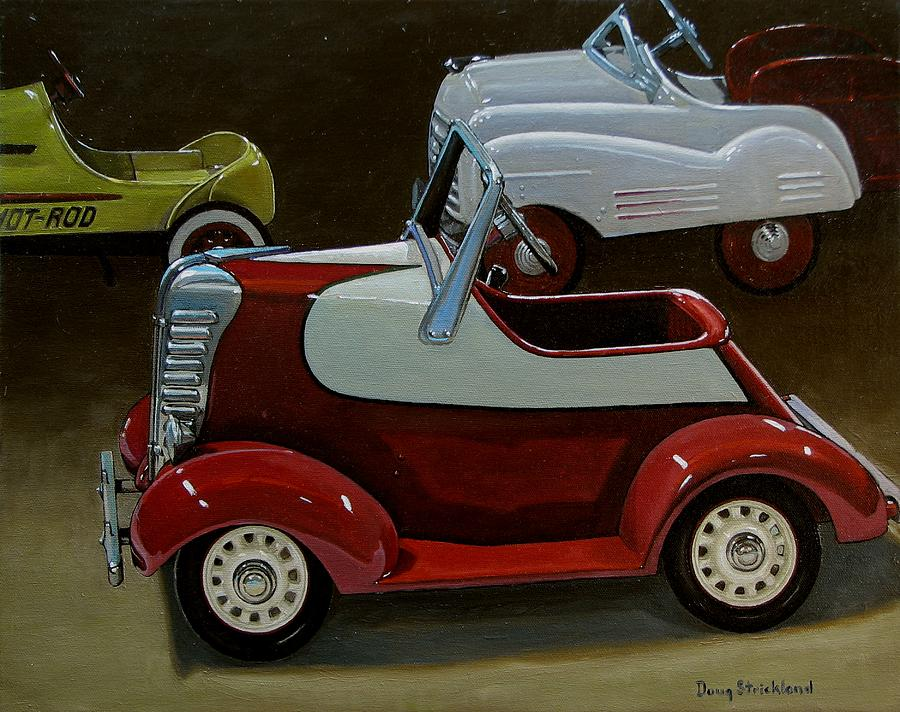 Antique Painting - Toy Pedal Cars by Doug Strickland
