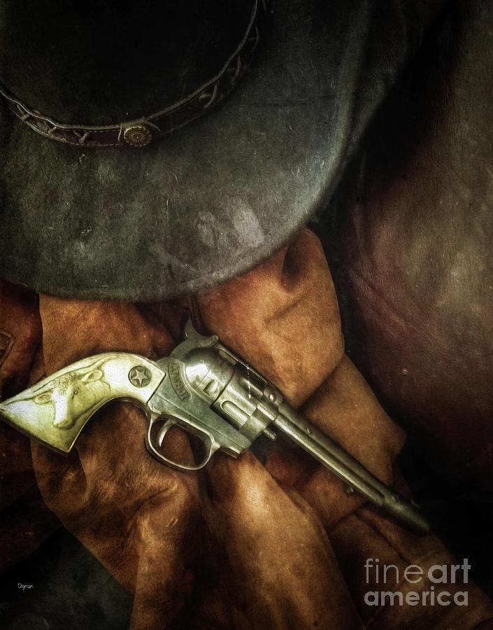 Cowboy Photograph - Toy West  by Steven Digman