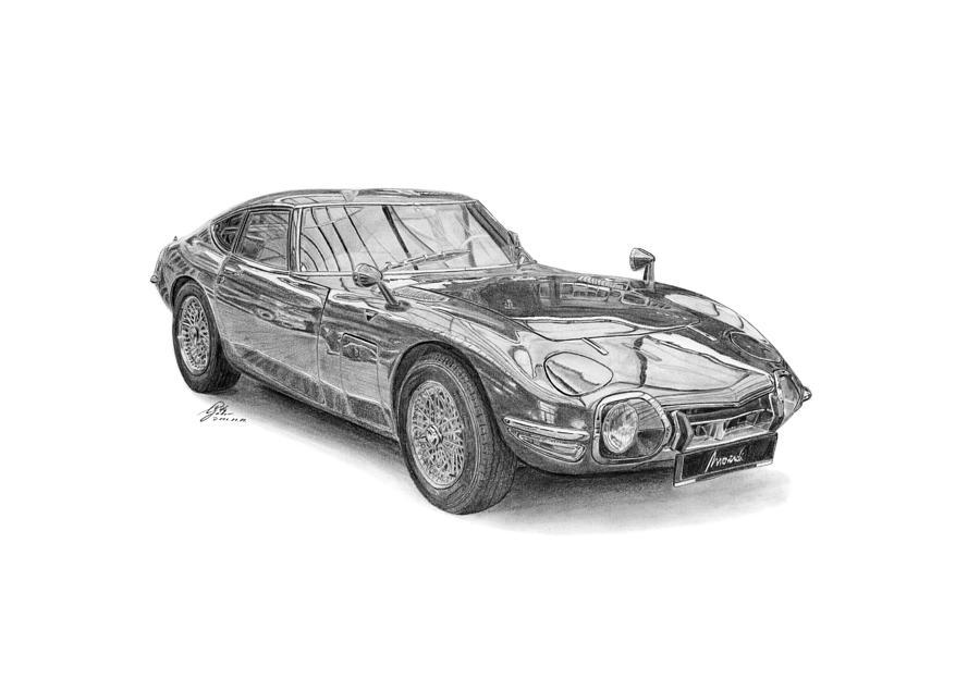 Toyota Drawing   Toyota 2000 Gt 1967 By Gabor Vida