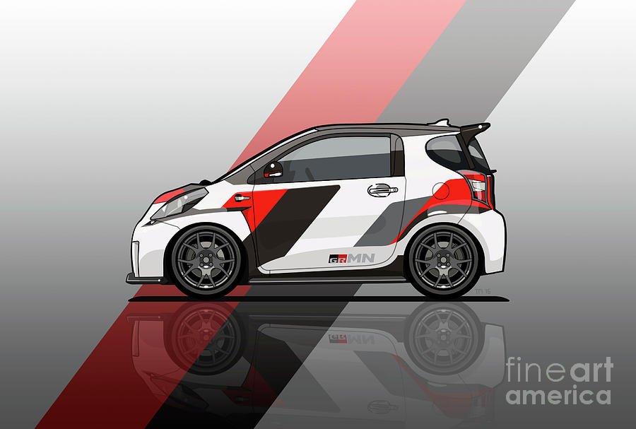 Toyota Digital Art - Toyota Scion Grmn Iq Racing Concept by Monkey Crisis On Mars