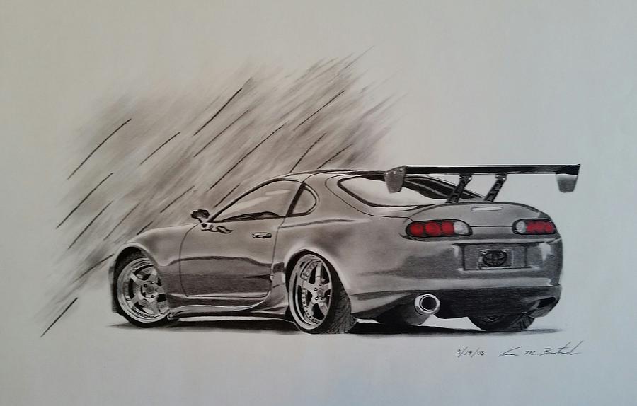 Toyota Drawing   Toyota Supra By Aaron Bertrand