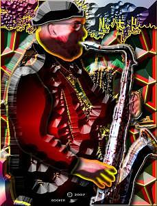Jazz Mixed Media - TP by Booker Williams