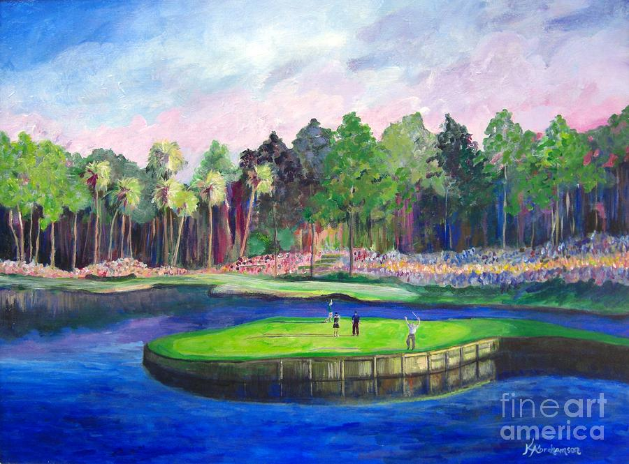 Tpc 17th Sawgrass Painting by Kristen Abrahamson