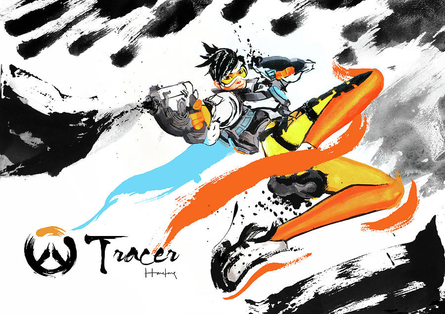 Tracer Painting - Tracer Overwatch by Haze Long