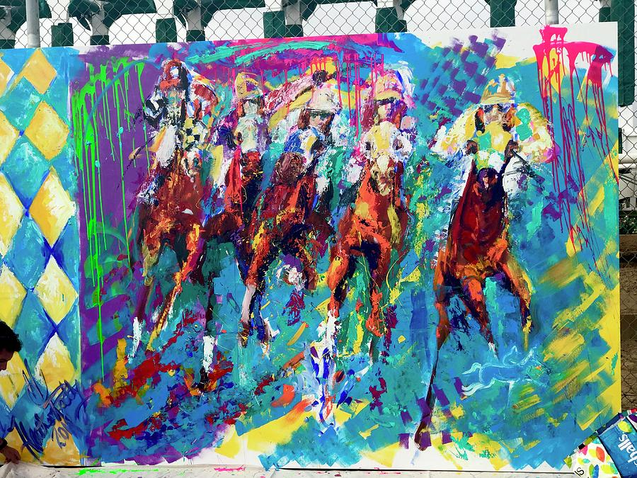 Del Mar Race Track Painting - Opening Day 2018 by Heather Roddy