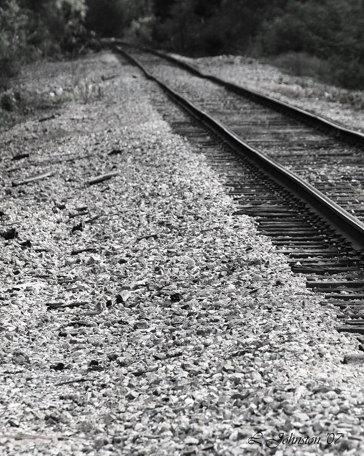 Train Photograph - Track To Nowhere by Lisa Johnston