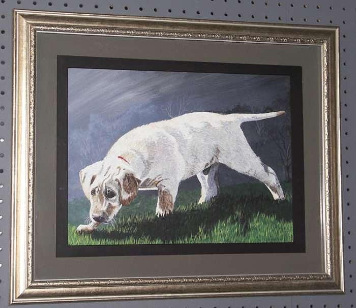 Labrador Painting - Tracking The Scent by Dale Regensberger