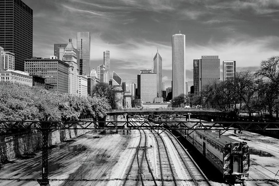 Tracks into the city horizontal by John McArthur