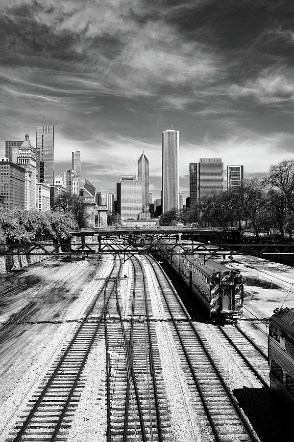 Tracks into the city by John McArthur