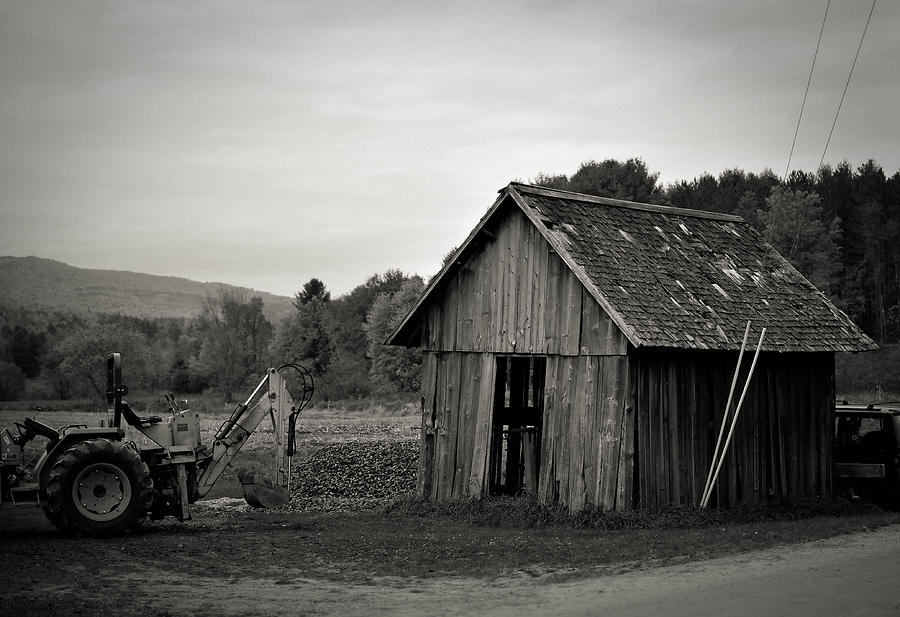Tractor Photograph - Tractor And Shed by Mandy Wiltse