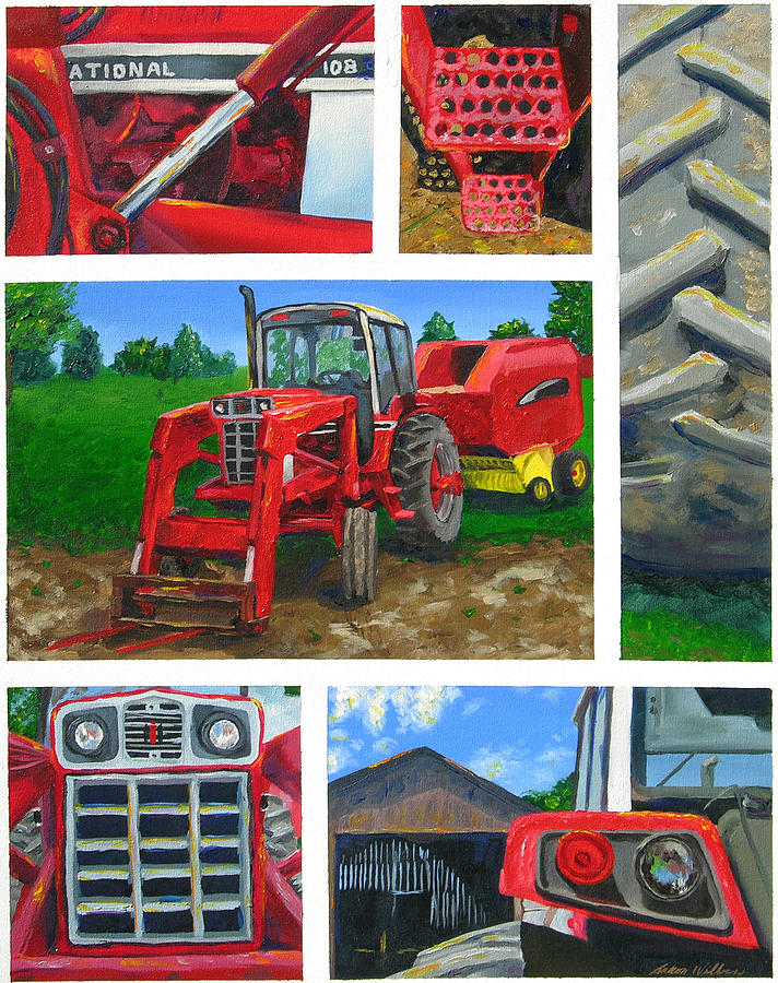 Tractor Painting - Tractor Collage 1 by Aaron Wilbers